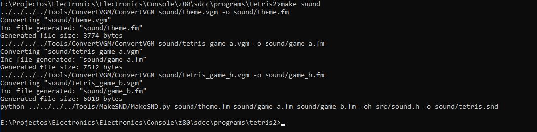 Sound command line