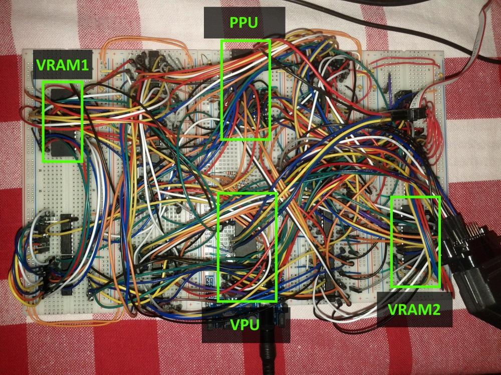 Construindo um console de videogame Homebrew VideoBoard2